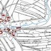 Řednice (Rednitz) | katastrální mapa vsi Řednice z doby před rokem 1955