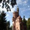 Karlovy Vary - rozhledna Goethova vyhlídka | Goethova vyhlídka od jihovýchodu - říjen 2013