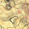 Údrč - Ulbertova kaple | Ulbertova kaple u Údrče na výřezu z mapy 1. vojenského josefského mapování z let 1764-1768