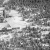 Jáchymov - rozhledna na Klínovci | areál horského hotelu na leteckém snímku z roku 1925