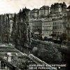 Karlovy Vary - pomník obětem 1. světové války | bývalá Chebská ulice s pomníkem a parkem v roce 1937