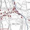 Vrch (Hüttmesgrün) | katastrální mapa osady Vrch patrně z roku 1945