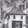 Karlovy Vary - kaple Olivetské hory | kaple Olivetské hory na perokresbě od H. Grumbacha z doby kolem roku 1927