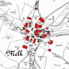 Mělník (Melk) | katastrální mapa vsi Mělník patrně z roku 1945