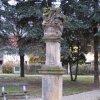 Stráž nad Ohří - sousoší Nejsvětější Trojice | sousoší Nejsvětější Trojice - listopad 2009