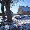 Kolešov - kaple Panny Marie Bolestné | pozůstatky zbořené kaple Panny Marie Bolestné ve svahu nad návsí v Kolešově od severovýchodu - únor 2011