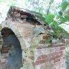 Valeč - Hoppova kaple | odhalená konstrukce klenby zchátralé kaple - září 2013