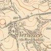 Žlutice - Neumannův kříž | Neumannův kříž v původní poloze na rozcestí ke hřbitovnímu kostelu sv. Mikuláše na mapě Topografické sekce III. vojenského mapování ze 40. let 20. století