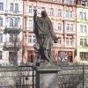 Karlovy Vary - socha sv. Jana Nepomuckého | socha sv. Jana Nepomuckého - březen 2011
