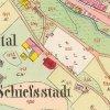 Jáchymov - špitál | špitál na císařském otisku stabilního katastru z roku 1842