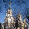 Karlovy Vary - pravoslavný kostel sv. Petra a Pavla | pravoslavný kostel od jihozápadu - leden 2010