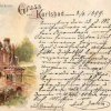 Karlovy Vary - pravoslavný kostel sv. Petra a Pavla | kostel sv. Petra a Pavla na pohlednici z roku 1899