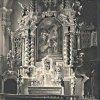 Ostrov - kostel Zvěstování Panny Marie | hlavní oltář kostela před rokem 1945