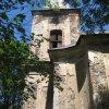 Lochotín - kostel Nanebevzetí Panny Marie | zvonová věž zdevastovaného kostela - červen 2011
