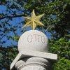 Karlovy Vary - sloup Otty I. | vrcholová partie sloupu Otty I. - březen 2011