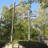 Karlovy Vary - Tři kříže | Tři kříže na vrcholu Tříkřížového vrchu - říjen 2011