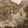 Karlovy Vary - Keglewiczův kříž | Keglewiczův kříž na Goetheově kresbě z roku 1808