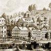 Karlovy Vary - Becherovo divadlo | tzv. Becherovo divadlo na rytině z doby kolem roku 1790