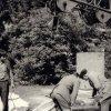 Karlovy Vary - pomník Antonína Dvořáka | instalace Dvořákova pomníku v roce 1974