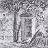 Karlovy Vary - špitál sv. Bernarda | špitál sv. Bernarda na kresbě J. W. Goetha kolem roku 1813