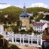 Karlovy Vary - Zámecká kolonáda | nová secesní Zámecká kolonáda Friedricha Ohmanna na kolorované pohlednici z doby po roce 1912