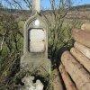 Verušice - Siemerův kříž | poškozený Siemerův kříž - říjen 2012