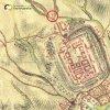 Žlutice - Kaštanový kříž | původní dřevěný kříž na významném rozcestí na severozápadním okraji města Žlutice na mapě 1. vojenského josefského mapování z let 1764-1768