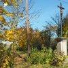Žlutice - Kaštanový kříž | zchátralý Kaštanový kříž na rozcestí na severozápadním okraji města Žlutice - říjen 2015