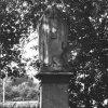 Štědrá - socha sv. Prokopa | poničená socha sv. Prokopa v roce 1967