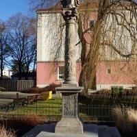 Chodov - sloup se sochou Panny Marie