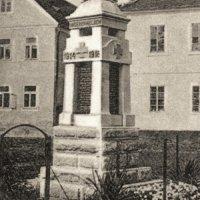 Krásné Údolí - pomník obětem 1. světové války