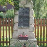 Krásný Jez - pomník obětem 1. světové války