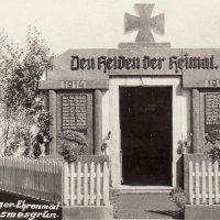 Osvinov - pomník obětem 1. světové války