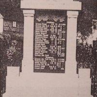 Dolní Lomnice - pomník obětem 1. světové války