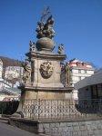 Karlovy Vary - sloup se sousoším Nejsvětější Trojice |