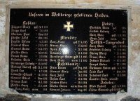 Kozlov - pamětní deska obětem 1. světové války |