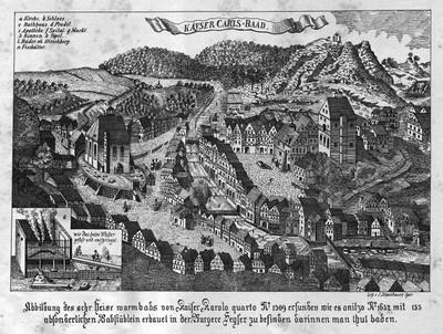 Karlovy Vary v roce 1652