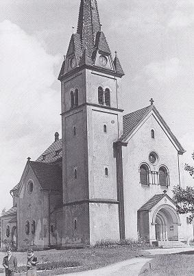 kostel Povýšení sv. Kříže v roce 1968