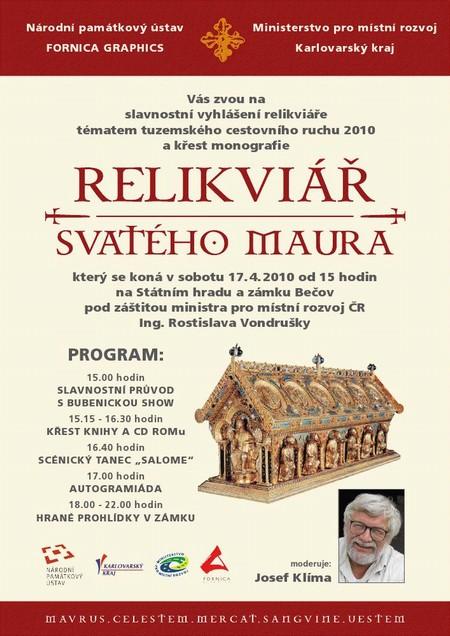 Křest první monografie o relikviáři sv. Maura