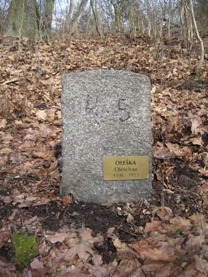 Oleška (Oleschau) - 1196 - 1953