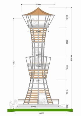 rozhledna Hraběnka - stavební plán