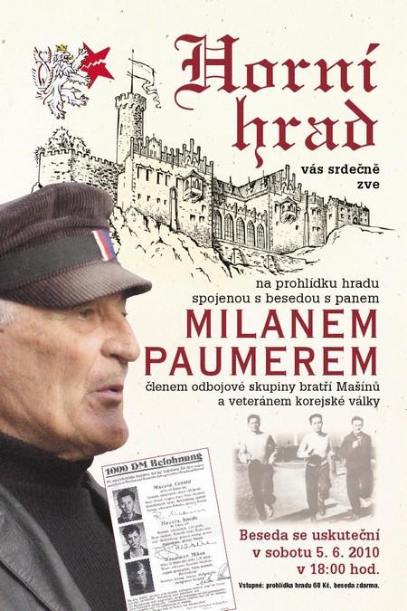 Beseda s Milanem Paumerem na Horním Hradě