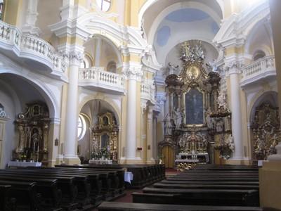interiér barokního kostela sv. Máří Magdalény - říjen 2011