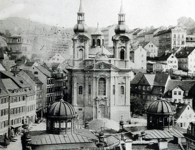 kostel sv. Máří Magdalény v době před rokem 1897