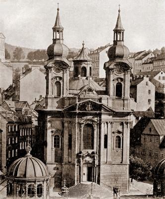 kostel sv. Máří Magdalény v roce 1901