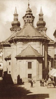 závěr kostela před rokem 1890