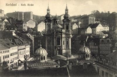 kostel sv. Máří Magdalény v době před rokem 1910