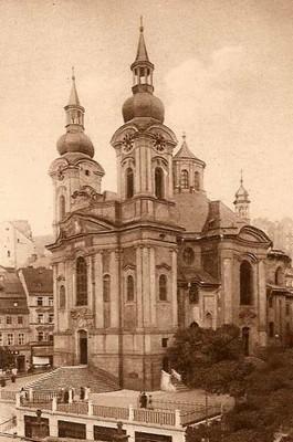 kostel v době před rokem 1890
