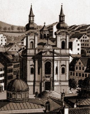 kostel sv. Máří Magdalény kolem roku 1895