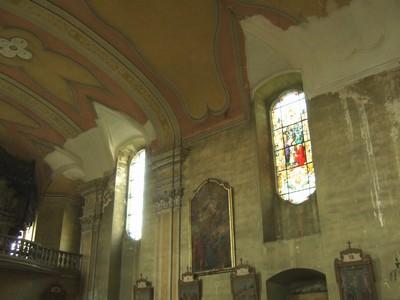 rok 2010 - stav stropní klenby kostela sv. Anny po opravě